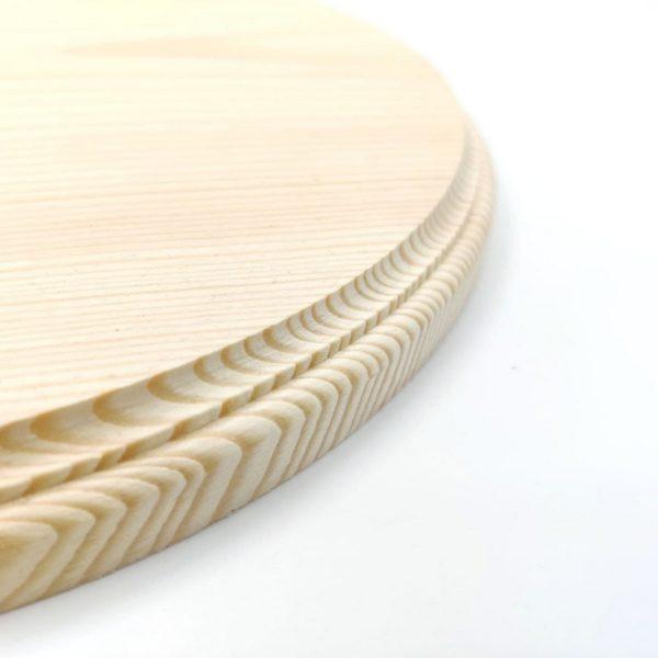 Панно деревянное круглое с фаской 25 см
