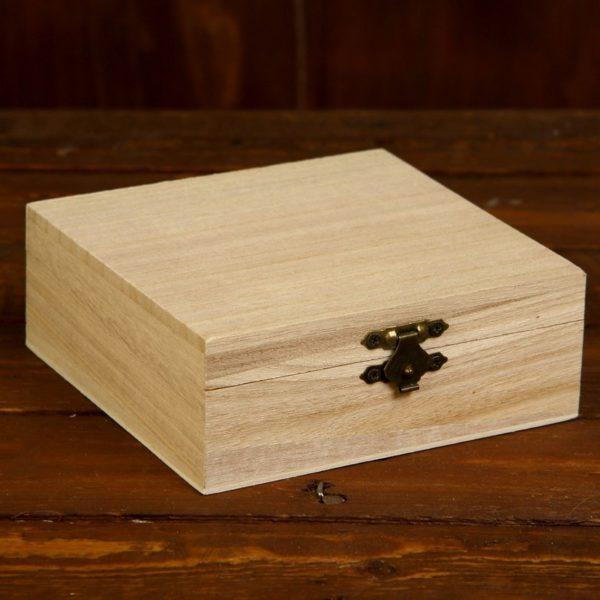 "Шкатулка из бамбука ""Квадратная"" 13*13*5 см"
