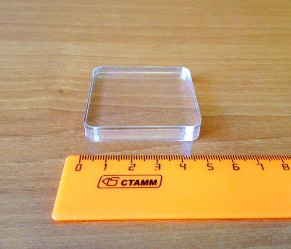 Блок для штампов из оргстекла, 5*5*0,8 см