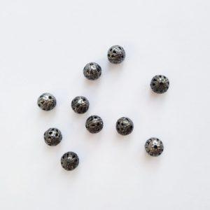 Бусины металлические с узором 6 мм цвет бронза