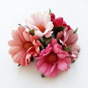 Хризантемы бумажные цвет розовое ассорти