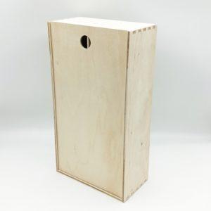 Ящик для двух бутылок фанерный 35*19*10 см