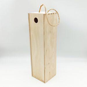 Ящик для бутылки фанерный 35*10*10 см